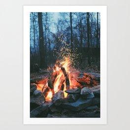 Campfire Art Print