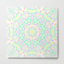 Pastel Mandala 2 Metal Print