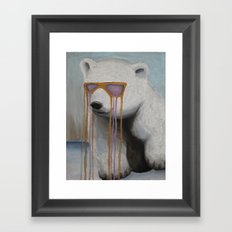 Coked Out Bear, not the soft drink Framed Art Print