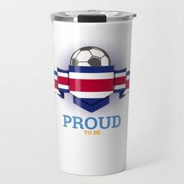 Football Costa Ricans Costa Rica Soccer Team Sports Footballer Goalie Rugby Gift Travel Mug