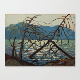 Tom Thomson Canoe Lake Spring 1914 Canadian Landscape Artist Canvas Print