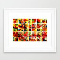 quilt Framed Art Prints featuring Quilt by Jose Luis