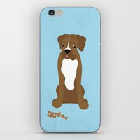 boxer iPhone & iPod Skins featuring Boxer by digital-couture