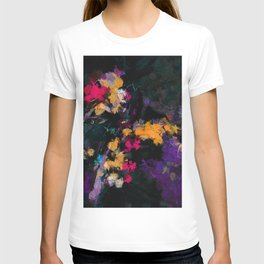 Purple and Yellow Abstract / Surrealist Painting T-shirt