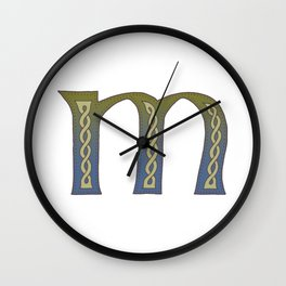 Celtic Knotwork Alphabet - Letter M Wall Clock