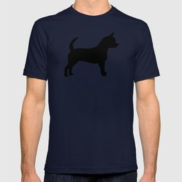 Chihuahua silhouette black and white pet art dog pattern minimal chihuahuas T-shirt