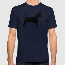 Chihuahua silhouette black and white pet art dog pattern minimal chihuahuas T-shirt