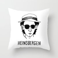 royal tenenbaums Throw Pillows featuring Heinsbergen (Royal Tenenbaums/Breaking Bad) by Tabner's