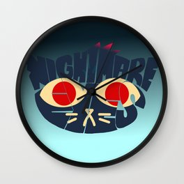 Mae - Nightmare eyes Wall Clock