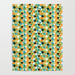 Scandy Triangles Poster