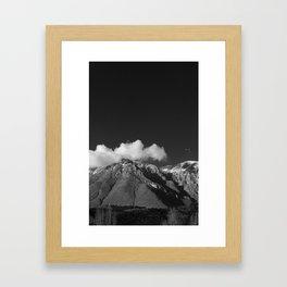 mount velino, homage to Ansel Adams, 2014 Framed Art Print