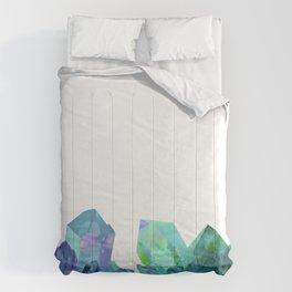 Blue-green Crystals Comforters