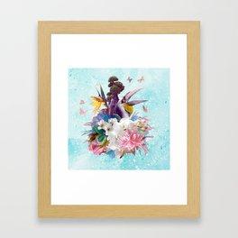 FLORAL HORNBILL / RIO Framed Art Print