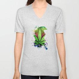 Pot Leaf Unisex V-Neck