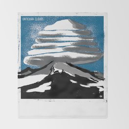 Lenticular Clouds. Throw Blanket