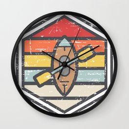 Retro Badge Kayak Light Wall Clock