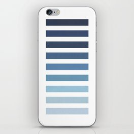 Sky and Water Blue Palette iPhone Skin