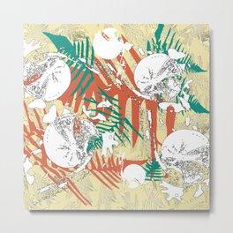 Abstract fern decorative print Metal Print
