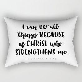 Philippians 4:13 - Bible Verse Rectangular Pillow
