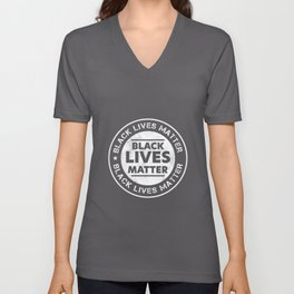 Black Lives Matter BLM Equality Fist Unisex V-Neck