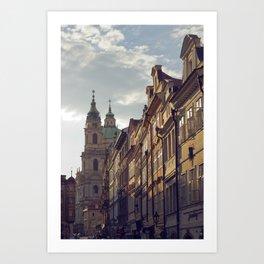 Streets of Prague Art Print