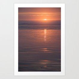 Sunset Sings Quietly Art Print