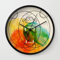 bear Wall Clocks featuring Bear by Alvaro Tapia Hidalgo