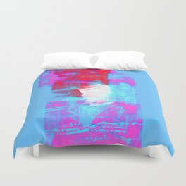 abstract blue pink Duvet Cover