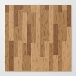 Multi Brown Wood Floor Pattern Canvas Print