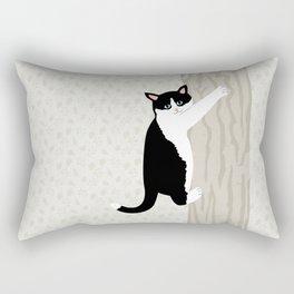 Cats Climb DOWN Backwards Rectangular Pillow