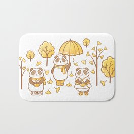 Pandas and ginkgo Bath Mat