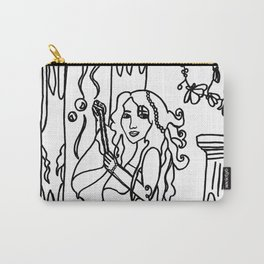 Jazette´s Pearls Black and White Drawing  Carry-All Pouch