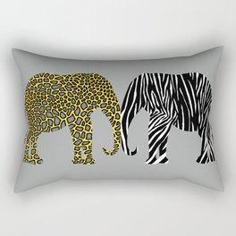 Elephants in Animal Prints Rectangular Pillow