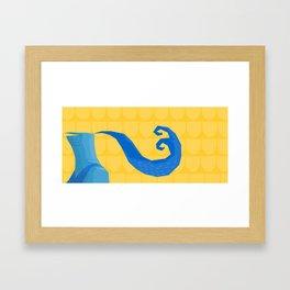 The Blue Knight  Framed Art Print