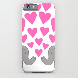 Loved up Elephants iPhone Case