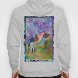 Cat and Monarchs Winged Trim Hoody