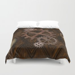 Comforts of Steampunk Duvet Cover