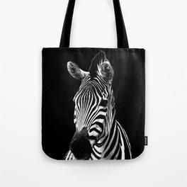 Zebra Black Tote Bag