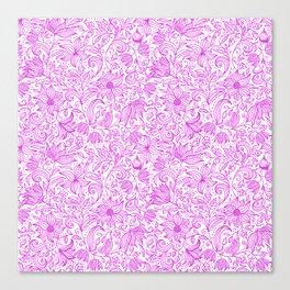 Bells Flower - BUTTERFLIES - CAMPANULA PURPLE Canvas Print