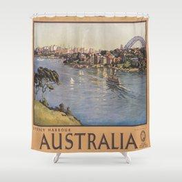 Vintage poster - Gulf Coast Shower Curtain