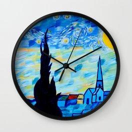 Modern Starry Night Wall Clock