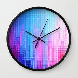 colorfuL Pixels Wall Clock