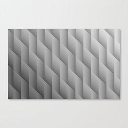 Gradient Gray Diamonds Geometric Shapes Canvas Print