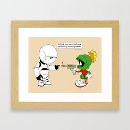 Marvin vs. Marvin Framed Art Print