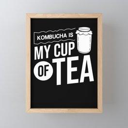 Kombucha Scoby Gift Making Brewing Tea Framed Mini Art Print