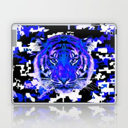 camouflage tiger on blue Laptop & iPad Skin