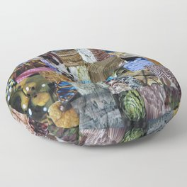 Collage - Tiled Floor Pillow