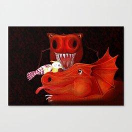 Into the Dragon's Den Canvas Print