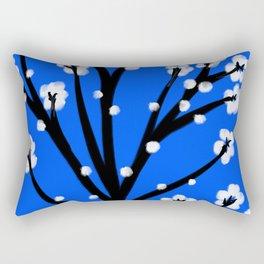 Vietnamese Cherry Blossom Rectangular Pillow