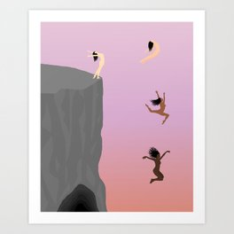Fall Together Art Print